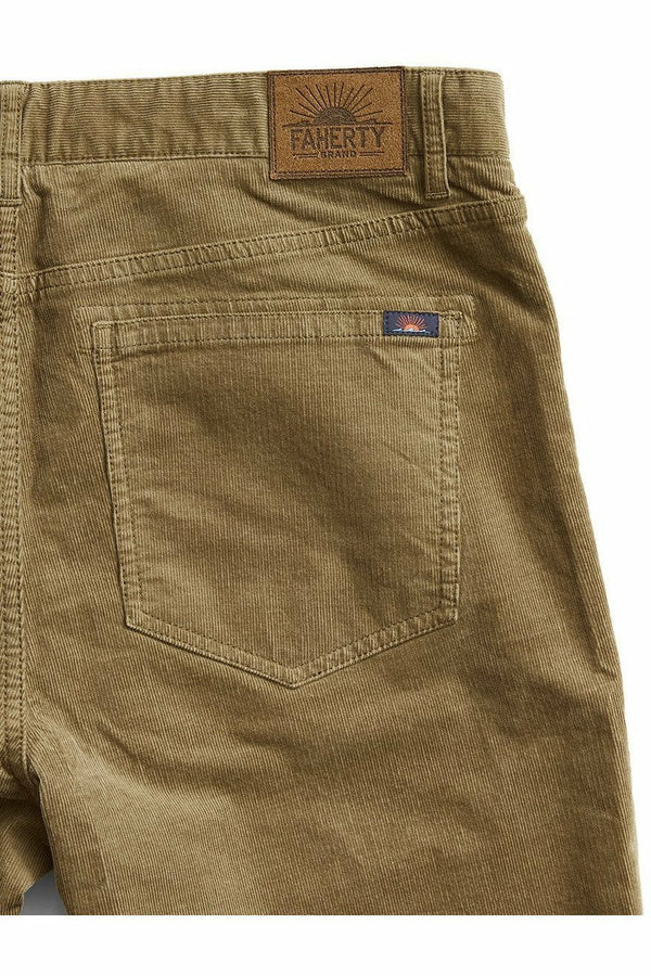 Faherty Faherty - Stretch Corduroy 5-Pocket - Timber Dim Gray