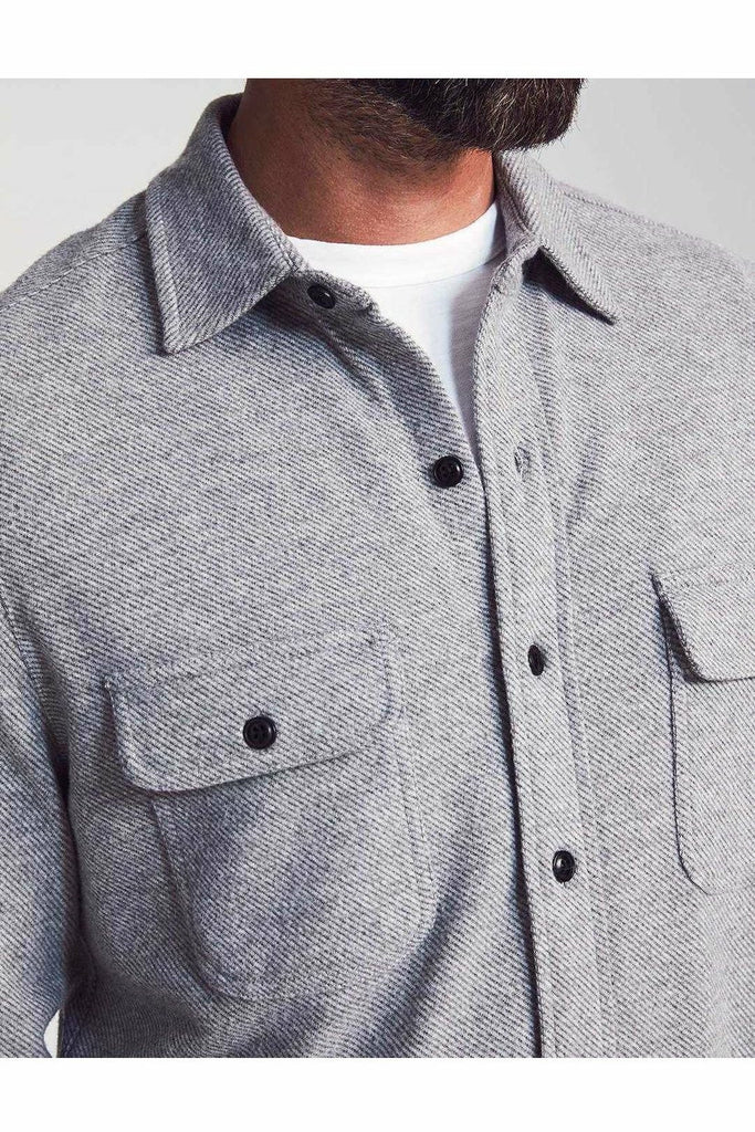 Faherty Faherty - Legend Sweater Shirt - Light Gray Gray