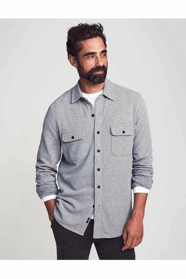 Faherty Faherty - Legend Sweater Shirt - Light Gray Lavender