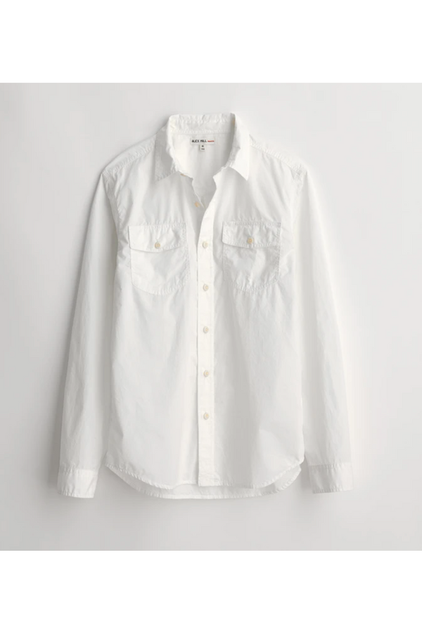 "Alex Mill Alex Mill - Field Shirt in Garment-Dyed ""Paper Cotton"" - White Antique White"