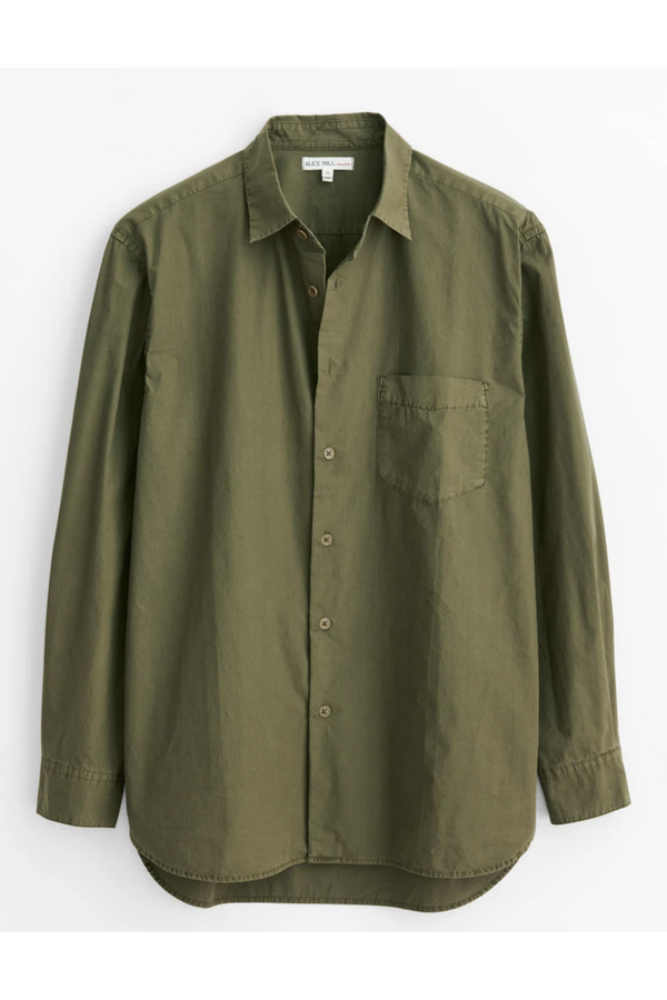 Alex Mill Alex Mill - Easy Shirt in Paper Cotton - Military Olive Dim Gray