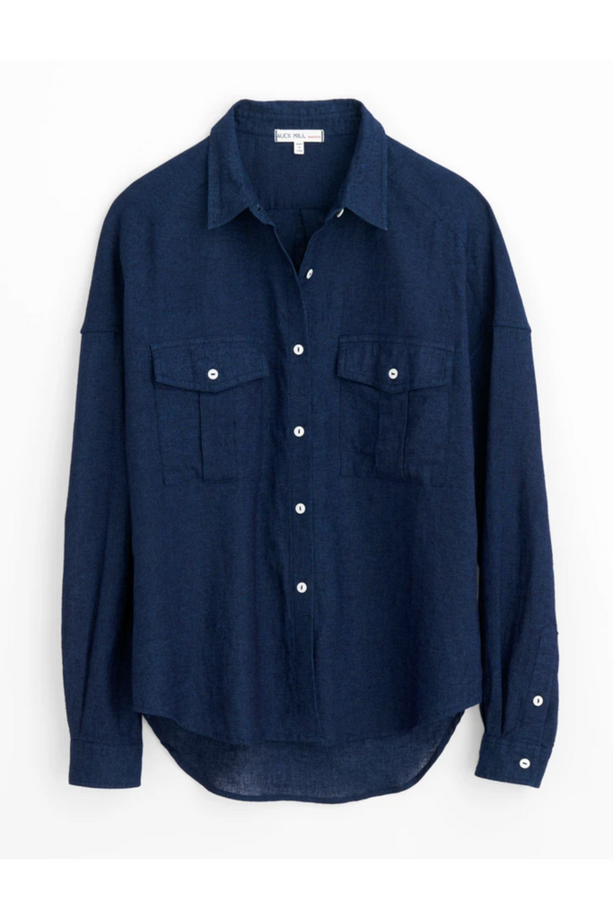 Alex Mill Alex Mill - Keeper Button Down - Indigo Dark Slate Gray
