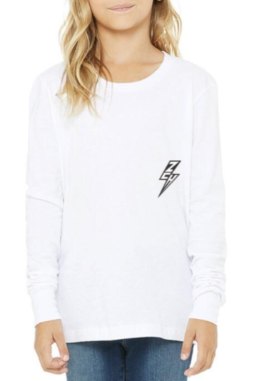 ZCH ZCH - Youth - Essentials L/S Tee - White White Smoke