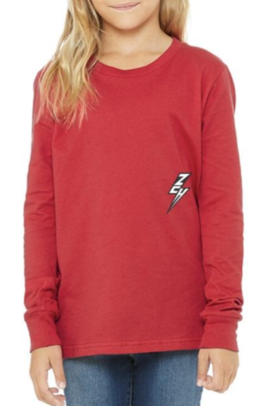 ZCH ZCH - Youth - Essentials L/S Tee - Red Maroon