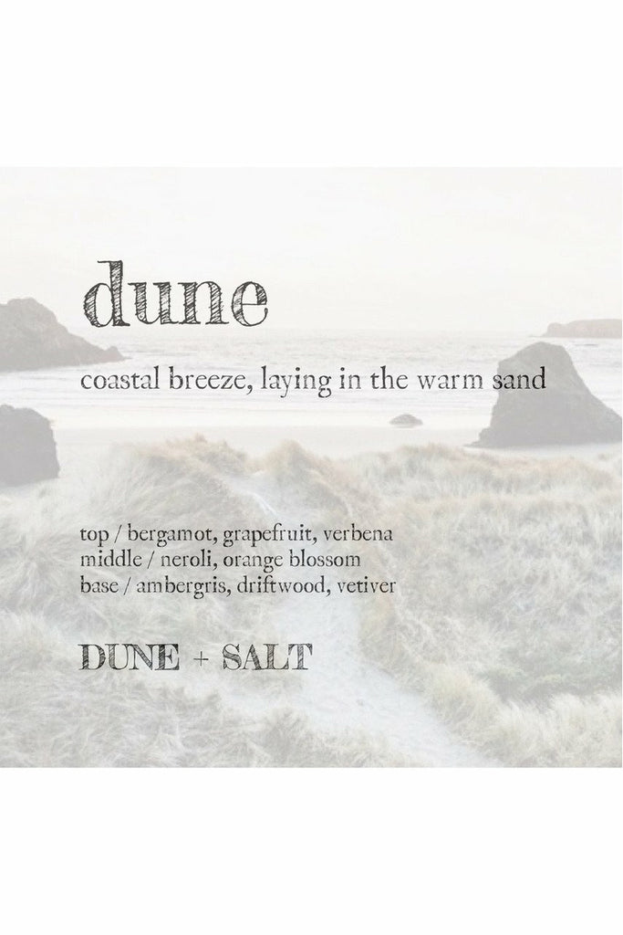 "Dune and Salt D+S - Soy Candle 8 oz - ""Dune"" Gray"
