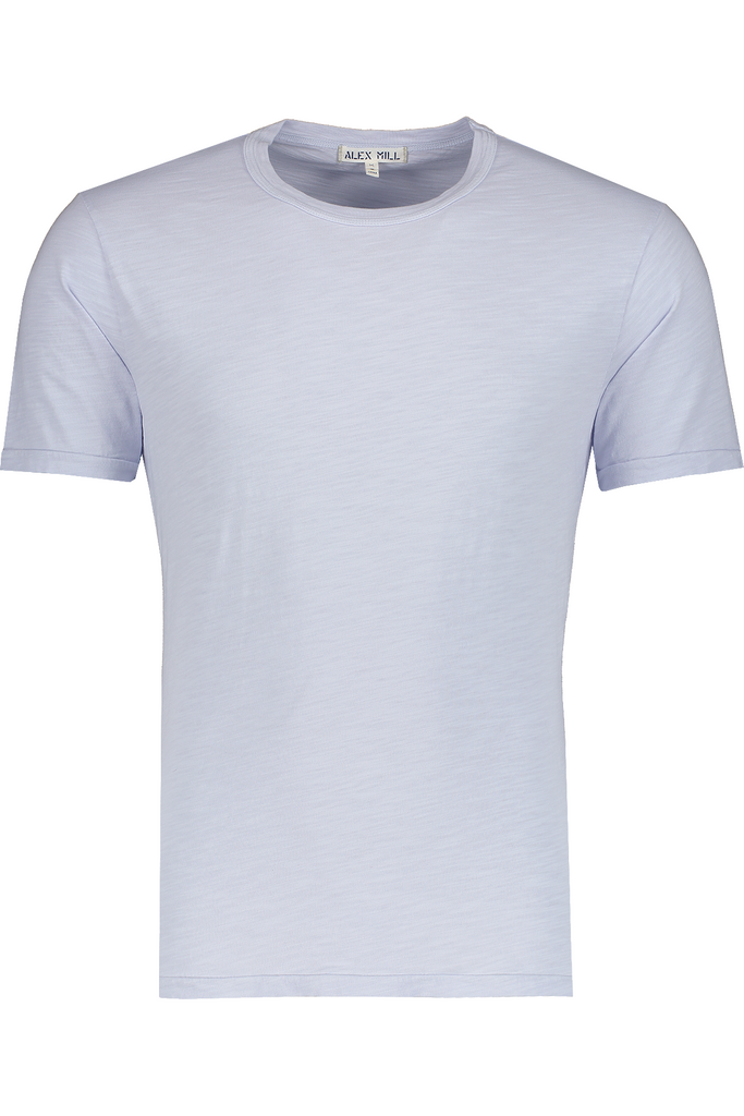 Alex Mill Alex Mill - Standard Slub Cotton Tee - Calm Blue Light Gray