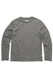Surfside Surfside - L/S Double Roll Bicolor Crew - SPECKLED GREY Dim Gray