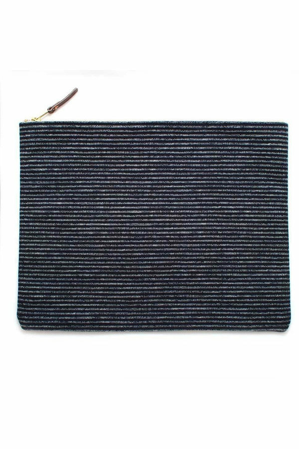 General Knot General Knot - Laptop Sleeve - Indigo Chalk Stripe Dark Slate Gray