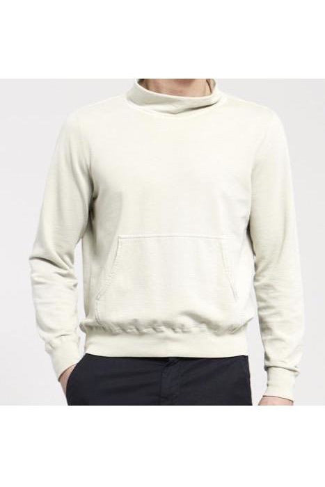 Supima Fleece Mock Neck - Pistachio