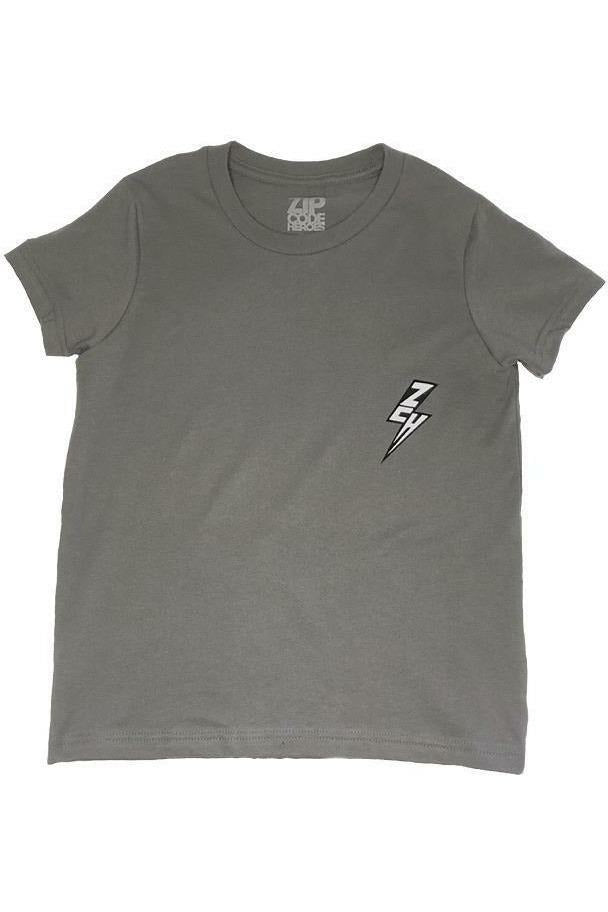 ZCH - Youth - Essentials S/S Tee - Asphalt Grey