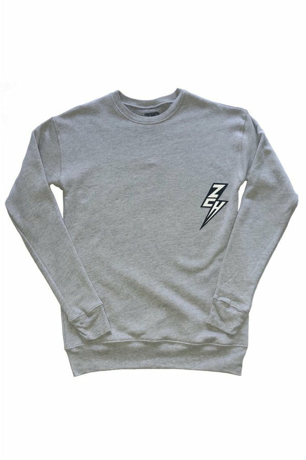 ZCH ZCH - Essentials Crewneck Sweatshirt - Grey Heather Dark Gray