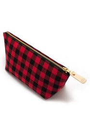 Buffalo Plaid Travel Cluch
