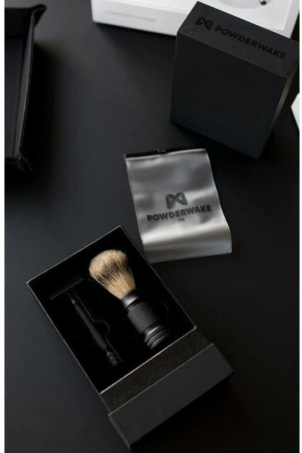 Powderwake Powderwake - Shave Kit - Black Metal Dim Gray