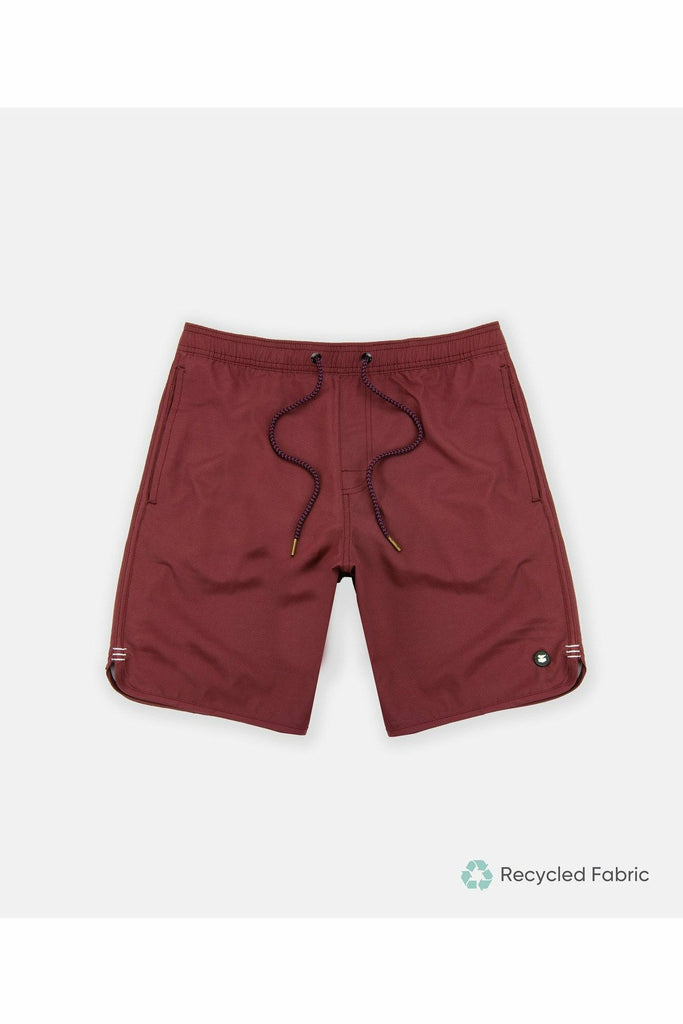 Jetty Jetty - Volley Shorts - Burgundy Saddle Brown