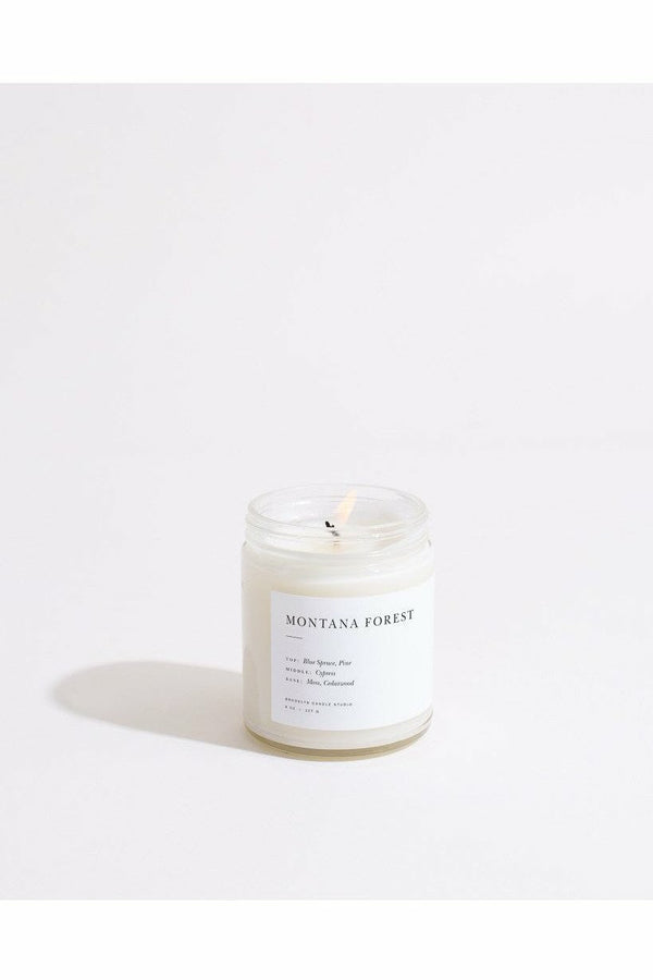 Brooklyn Candle Studio Brooklyn Candle - Montana Forest Minimalist Light Gray