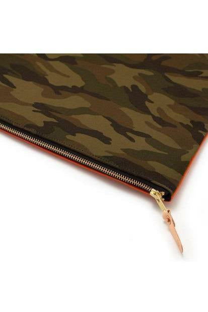 General Knot General Knot - Laptop Sleeve - Japanese Ivory Tidal Dark Olive Green