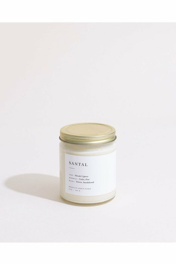 Brooklyn Candle Studio Brooklyn Candle - Santal Minimalist Candle Gray