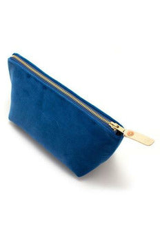 General Knot General Knot - Travel Clutch - Sapphire Velvet Midnight Blue