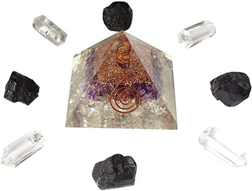 Orgonite Jewelry Pyramid Energy Generator and Chakra Healing Decoration - [Homistic]