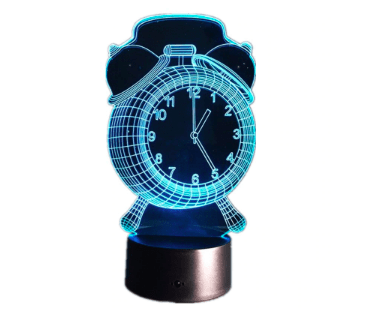 3D Alarm Clock Optical Illusion Visible Night Light With Bluetooth Speaker - [Homistic]