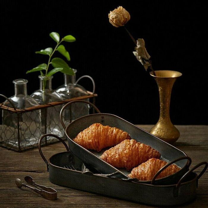 Metal Vintage French Croissant Tray - [Homistic]