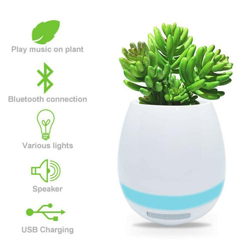 Sensor Bluetooth Speaker Flower Pot - [Homistic]