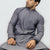 Grey & White Polo Shalwar Kameez