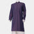 Dark Purple Broadcloth Kurta