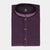 Dark Purple & Black Self Texture kurta