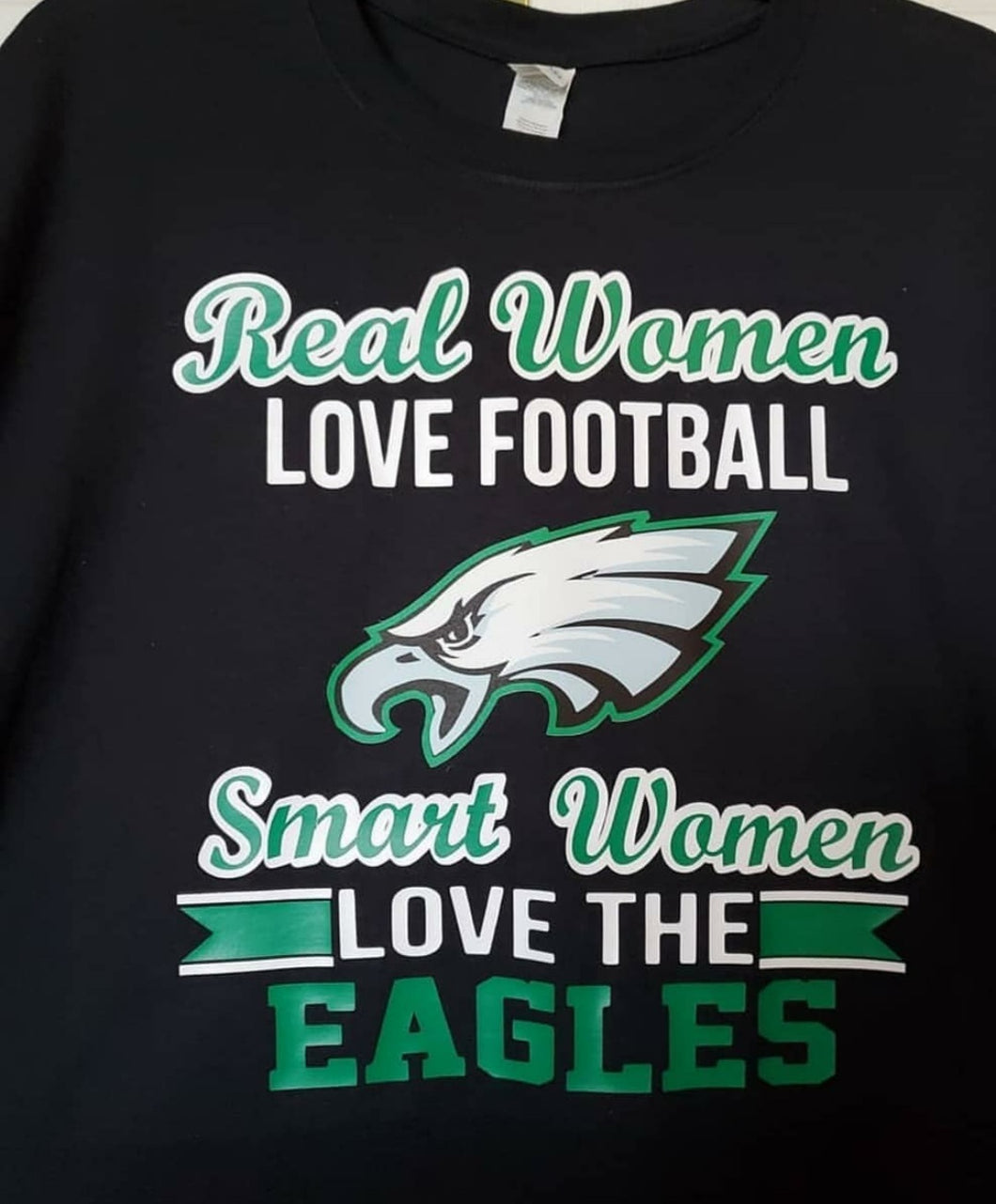 Real woman love eagles football T Shirt
