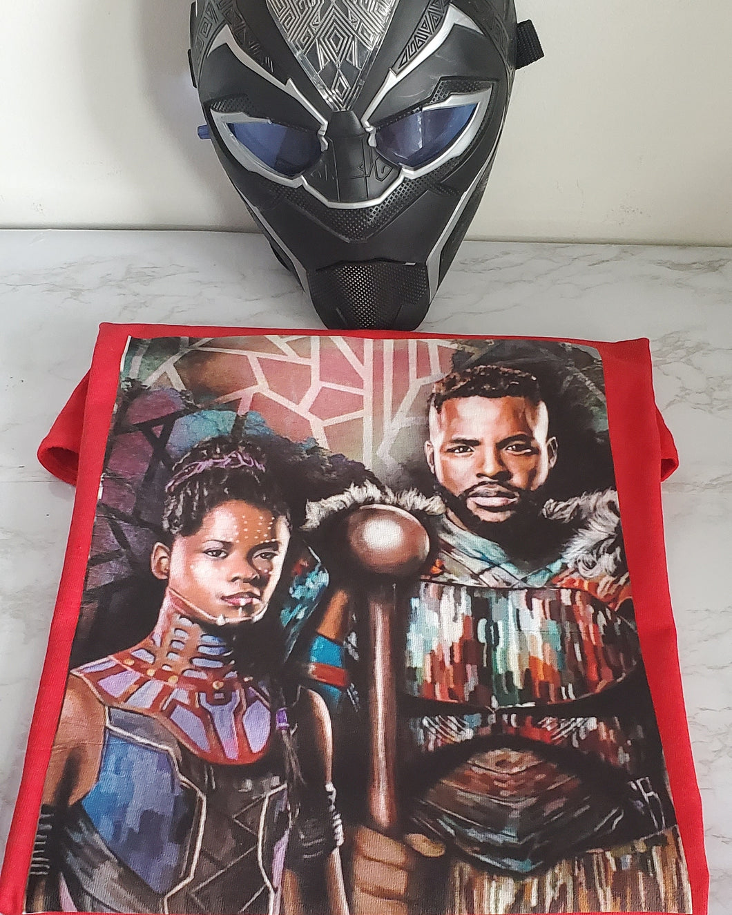 Black Panther Print Art T-shirt
