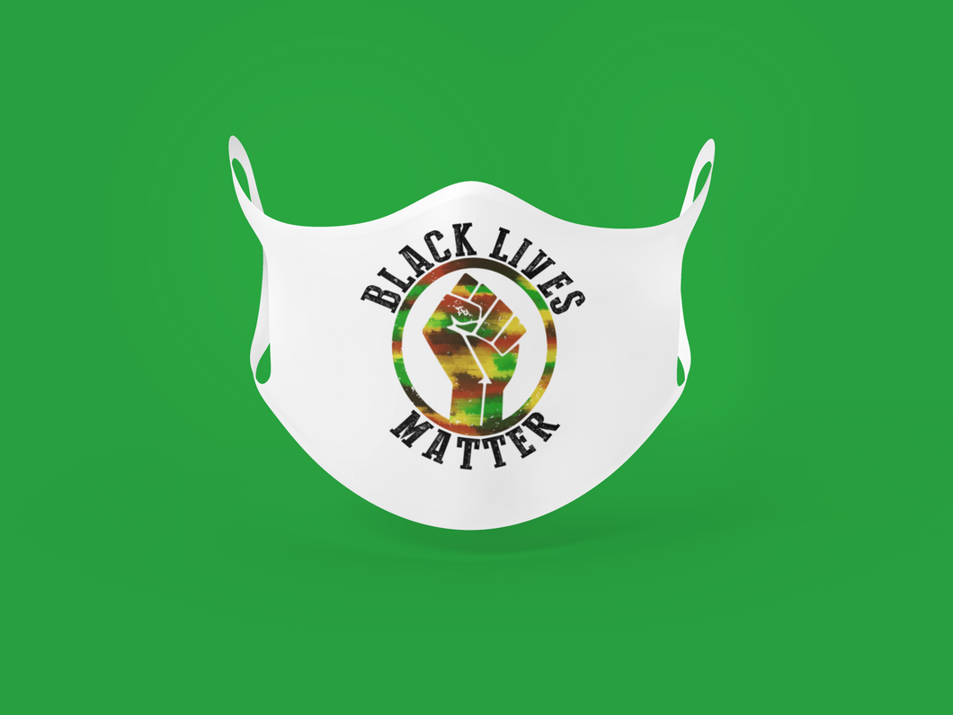 black lives matter fist mask