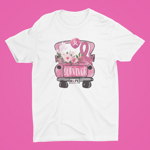 Survivor and Hope Cancer Car T- shirt