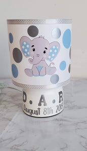Boys Personalized Baby Lamp