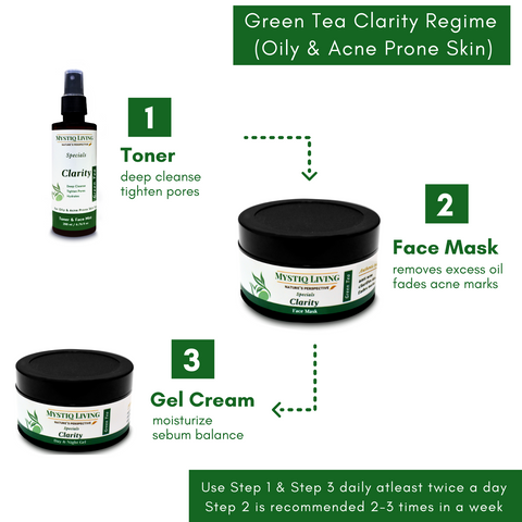 skin regime for acne and oily prone skin
