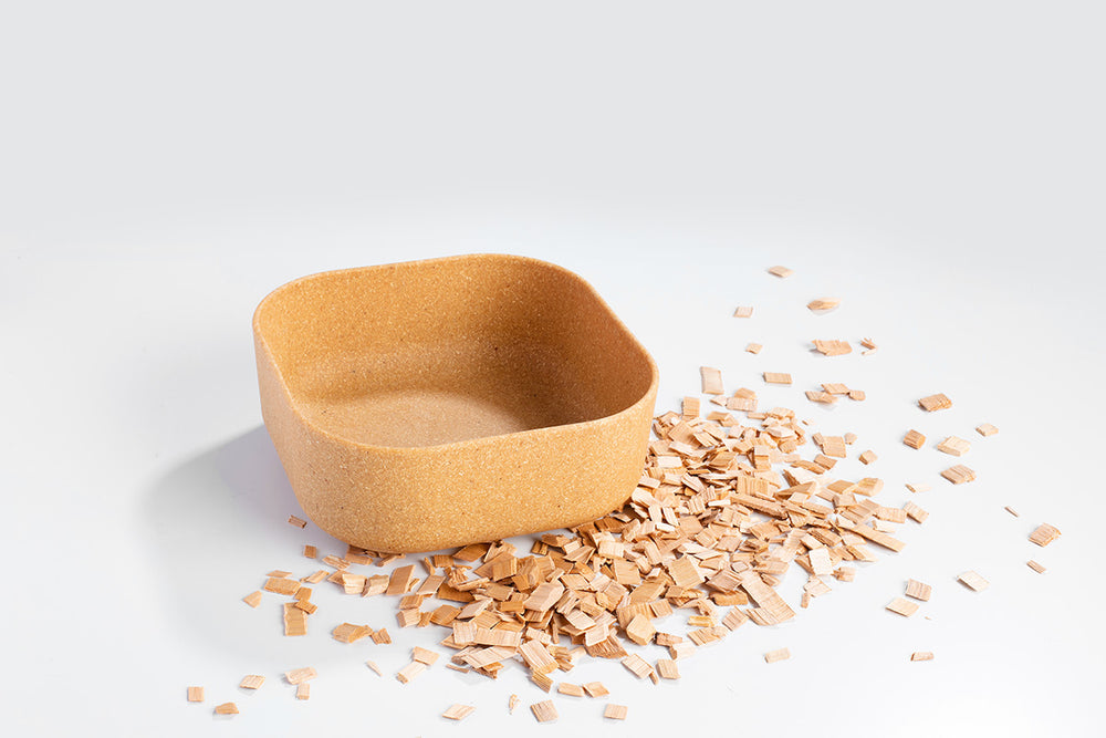 Venandi Design Pet Bowl - Wood Chips