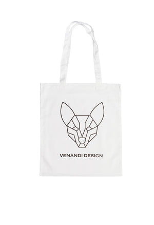 Venandi Design Cotton Bag White