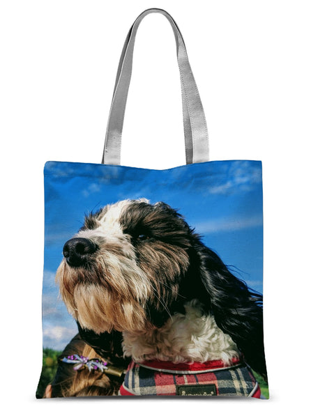Barney the Cockapoo Sublimation Tote Bag