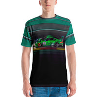 Porsche 911 GT3 RS racing at Le Mans all-over print Men's T-shirt