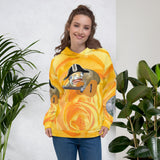 Spongmonkeys on yellow rose Unisex Hoodie