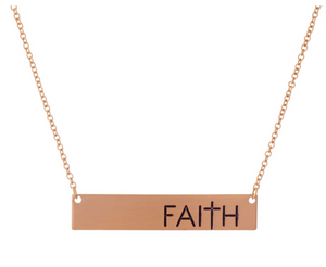 """Faith"" Engraved Necklace (comes with a free gift)"