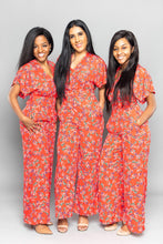 Load image into Gallery viewer, Red Floral Jumpsuit