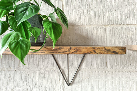 Contemporary Prism Shelf in Steel