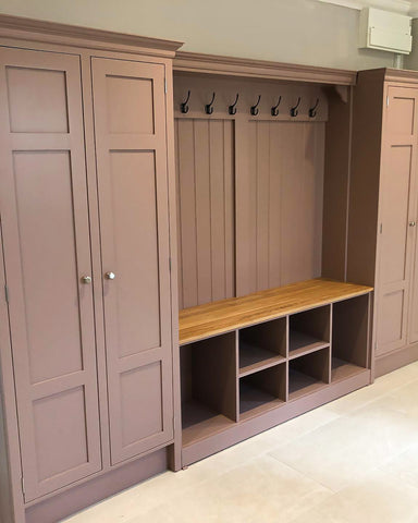 Boot Room Storage Bench with Cupboards