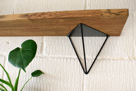 Contemporary Prism Shelf in Black