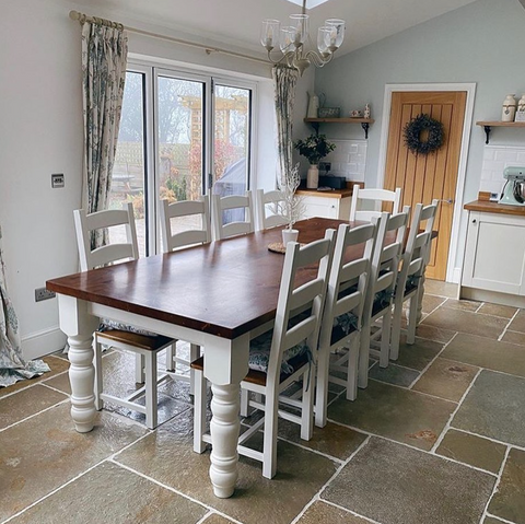 Traditional Tall Ladder Back Dining Set