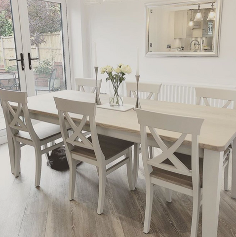 Cross Back Dining Set