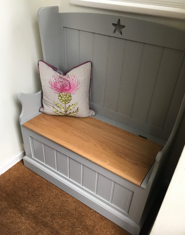 Hallway Storage Bench with Star or Heart