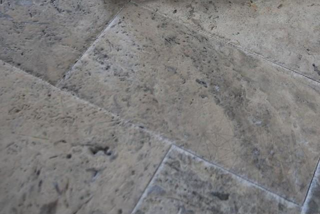 Silver Brushed Travertine