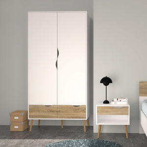 OSLO 2 Doors Wardrobe - Urban Home